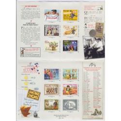 COLLECTOR 12 TIMBRES LES PLAISIRS DE LA PLAGE 2012 NEUF** L'ART DES GENTS