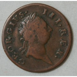IRELANDE GEORGIUS III 1/2 penny 1769