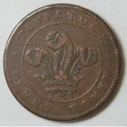 JETON  Tavistock 1811 Penny Devon Mines