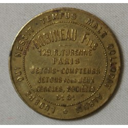 JETON - Robineau fils 129 rue de Turenne Paris.