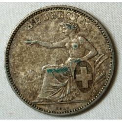 SUISSE - 2 FRANCS 1860 TTB