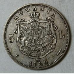 ROUMANIE - Charles Ier 5 LEI 1880 TTB