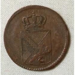 ALLEMAGNE - BADE 1/2 Kreuzer 1809