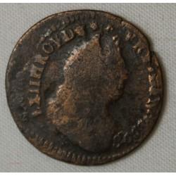 LOUIS XIV liard de France 1698 Fautée - rare -