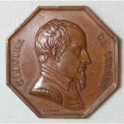 JETON - Olivier de serres, récompense du travail, Haute Garonne