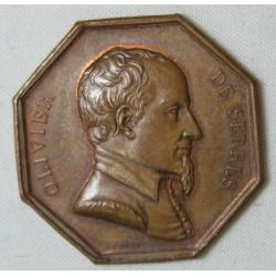 JETON - Olivier de serres, récompense du travail, Haute Garonne (bronze)