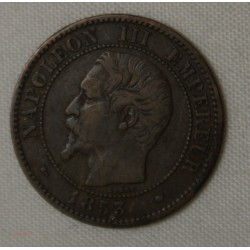 NAPOLEON III 2 centimes 1853 MA TB+ COTE 80€