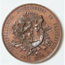 MEDAILLE Suisse 1890  HEIL DER HELVETIA, Superbe