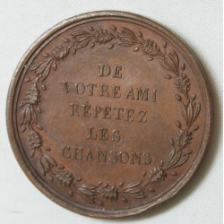 MEDAILLE Pierre Jean DE BERANGER 1857 par Montagny.F
