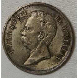 "MEDAILLE Italie Umberto I ""Unita d'Titalia 1848-1870"" Tacconet"