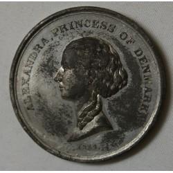 MEDAILLE Danemark 1863 Pincess Alexandra et Albert Edward