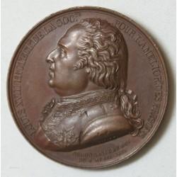 MEDAILLE L. XVIII et Duc Angoulèmepour amélioration des prisons par BARRE.F