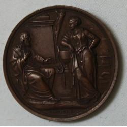 MEDAILLE bronze religieuse par Montagny.f