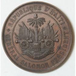MEDAILLE HAITI Gal Salomon Expo international Amsterdam 1883