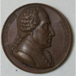 MEDAILLE THEOTIMUS GELLERTUS Philosophe Allemand 1821 par Brandt F.