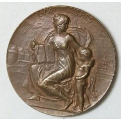 MEDAILLE bronze LUX SPES III CENT. L EDIT DE NANTES 1898 par Prudhomme
