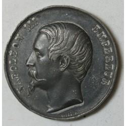 MEDAILLE NAPOLEON III EMP., EXPO UNIVERSELLE 1855 par CAQUE.F. Massonnet
