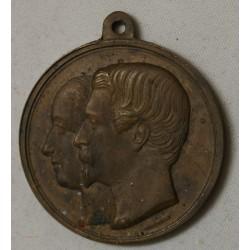 MEDAILLE mariage Eugénie et Napoléon III par ROBINEAU