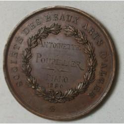 MEDAILLE ALGERIE, Société des beaux arts 1880 atribuée