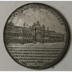 MEDAILLE NAPOLEON III, EXPO UNIVERSELLE 1855 palais industrie par CAQUE.F.