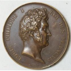 MEDAILLE Louis Philippe Ier, attribuée  Instituteur à Chinon 1831 par BARRE