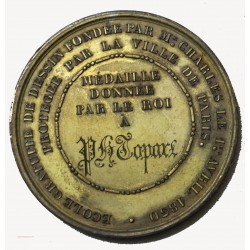 Médaille Louis Philippe Ier donnée par le roi à Instituteur Paris 1830