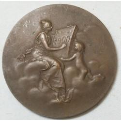 Médaille Bronze Monnaie de Paris 1900 par Daniel DUPUIS