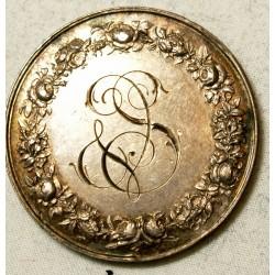 Médaille argent Mariage attribué 1883 par BORREL.F