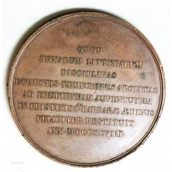Médaille Victor DELANNEAU littéraire 1825 par E.GATTEAUX