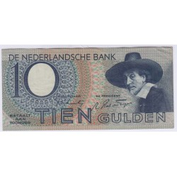 BILLET DU PAYS BAS 10 GULDEN 1943 L'ART DES GENTS AVIGNON