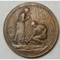 Médaille Bronze Jardiner par A.DESAIDE. EDIT décernée