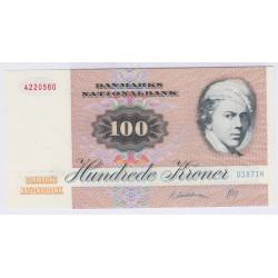 BILLET DU DANEMARK 100 KRONER 1987 NEUF L'ART DES GENTS AVIGNON