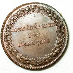 Médaille Confédérations des François 1790 superbe