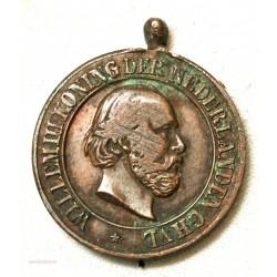 Médaillette WILLEM III Koning Netherland ATJEH  1873 en 1874