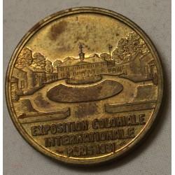 Médaille EXPOSITION COLONIALE 1931 Tête d' indien par Bazor