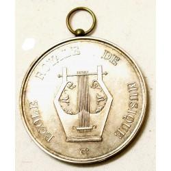 Médaille Argent Société Royale de Musique Fondée en 1828