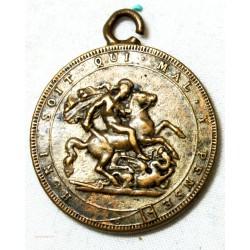 Médaille Puni soit, qui mal y pense St Georges terrassant le dragon.