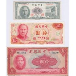 LOT 3 BILLETS DE CHINE L'ART DES GENTS AVIGNON