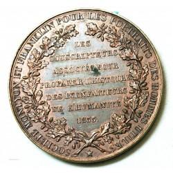 MEDAILLE de Franc-maçon FRANKLIN & MONTYON 1833