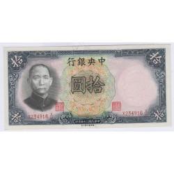 CHINE 10 CUSTOMS GOLD UNITS 1930