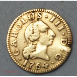 ESPAGNE - 1/2 escudo CARLOS III 1764 Seville