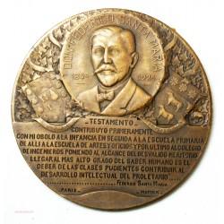 Médaille FUNDACION FEDERICO SANTA MARIA par Abel Lafleur