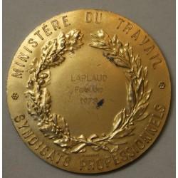 Médaille Ministère du Travail décernée en 1973 argent doré