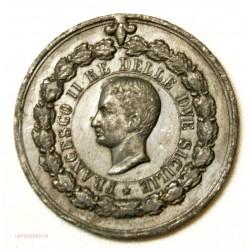 Médaille Francesco II campagna di sett. ott. 1860 rare étain