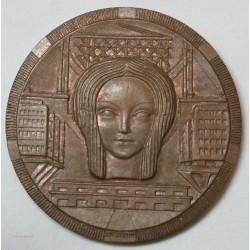 Médaille centenaire 1859-1959 SMABTP batiment et travaux publics par J.H COËFFIN