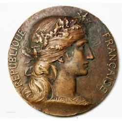 Médaille étBronze République Française par Henri Dubois - l'art des gents Avignon