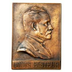 Médaille plaque Louis Pasteur Exposition Strasbourg 1923