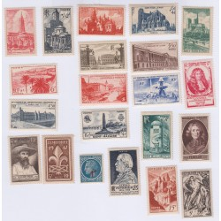 TIMBRES FRANCE ANNEE COMPLETE 1947 NEUFS** L'ART DES GENTS AVIGNON
