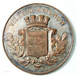 Médaille Exposition Indust. Ville AVIGNON 1891-  l'art des gents