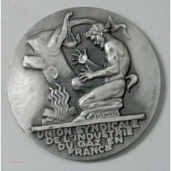 MEDAILLE Uion Synd. de l'Indust. du GAZ en FRANCE par Henri DROPSY